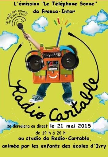 Radio scolaire : Les élèves d'élémentaire de @radiocartable invités du @TelSonne  de France Inter le jeudi 21 mai ! http://t.co/h64ZrPcf8h
