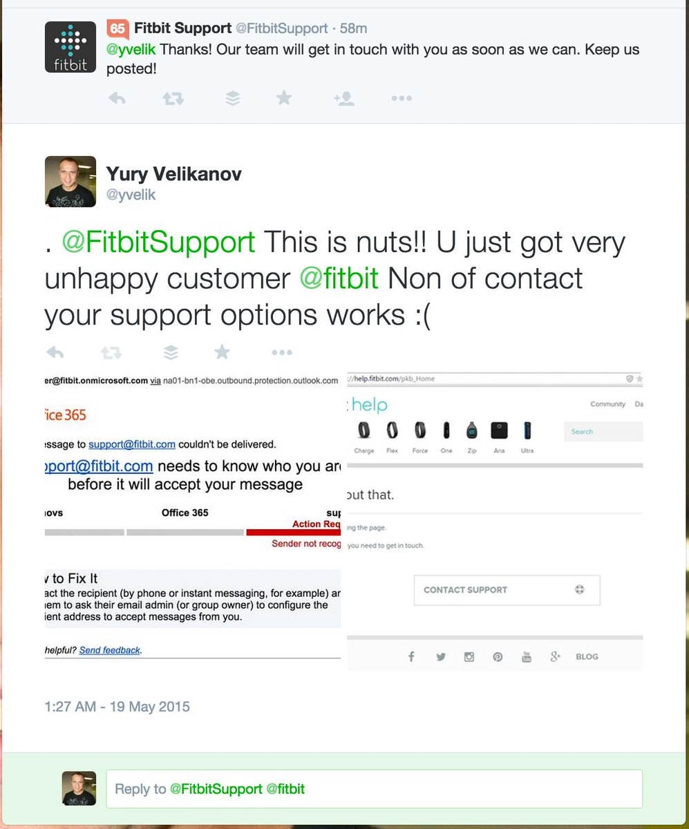 Fitbit Support on Twitter: