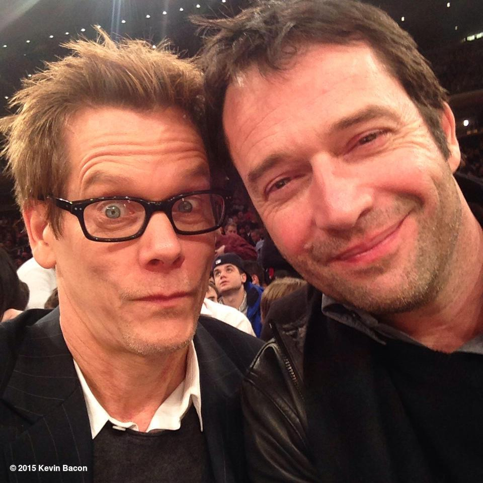 JC and RH catch a Knicks game. @JamesPurefoy #TheFollowing final night. http://t.co/4dfBDQe1Wj
