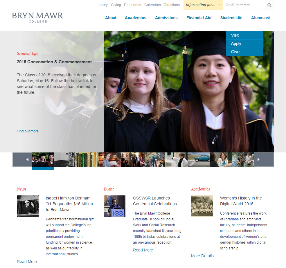 What's that on the @BrynMawrCollege homepage? A link to all the #WHDigWrld15 information! http://t.co/SXv27Pnngq