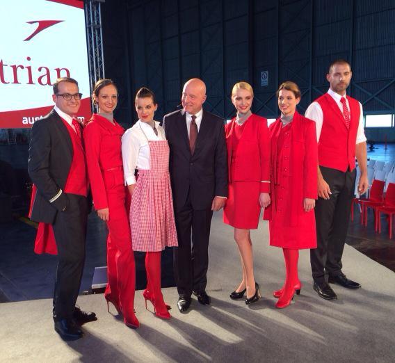 Il rebranding di Austrian Airlines firmato dalla stilista Marina Hoermanseder