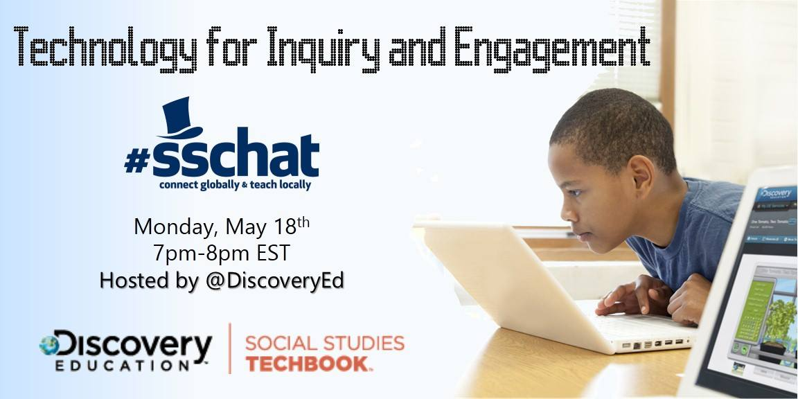 We're hosting #sschat at 7pmET to talk Tech for Inquiry & Engagement in Social Studies! Use/follow #sschat from 7-8pm http://t.co/X0DEy8diew