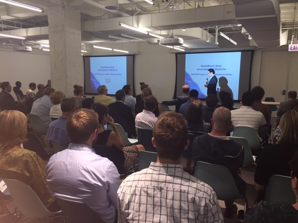 Power and Pattern of Data in Healthcare @MATTERChicago with @NorthShoreWeb #NSNextMed http://t.co/GhNSKUPHuJ