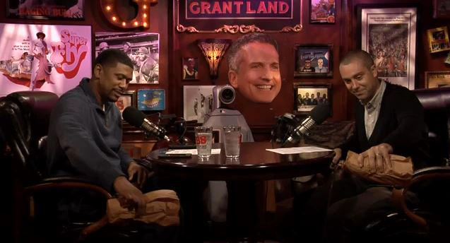 .@JalenRose and I popped the trunk: http://t.co/24KiaXCm7X and had to pay respect to our brother @BillSimmons http://t.co/d1NAKNuh3N