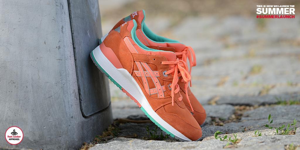 asics gel lyte iii orange colorway foot locker