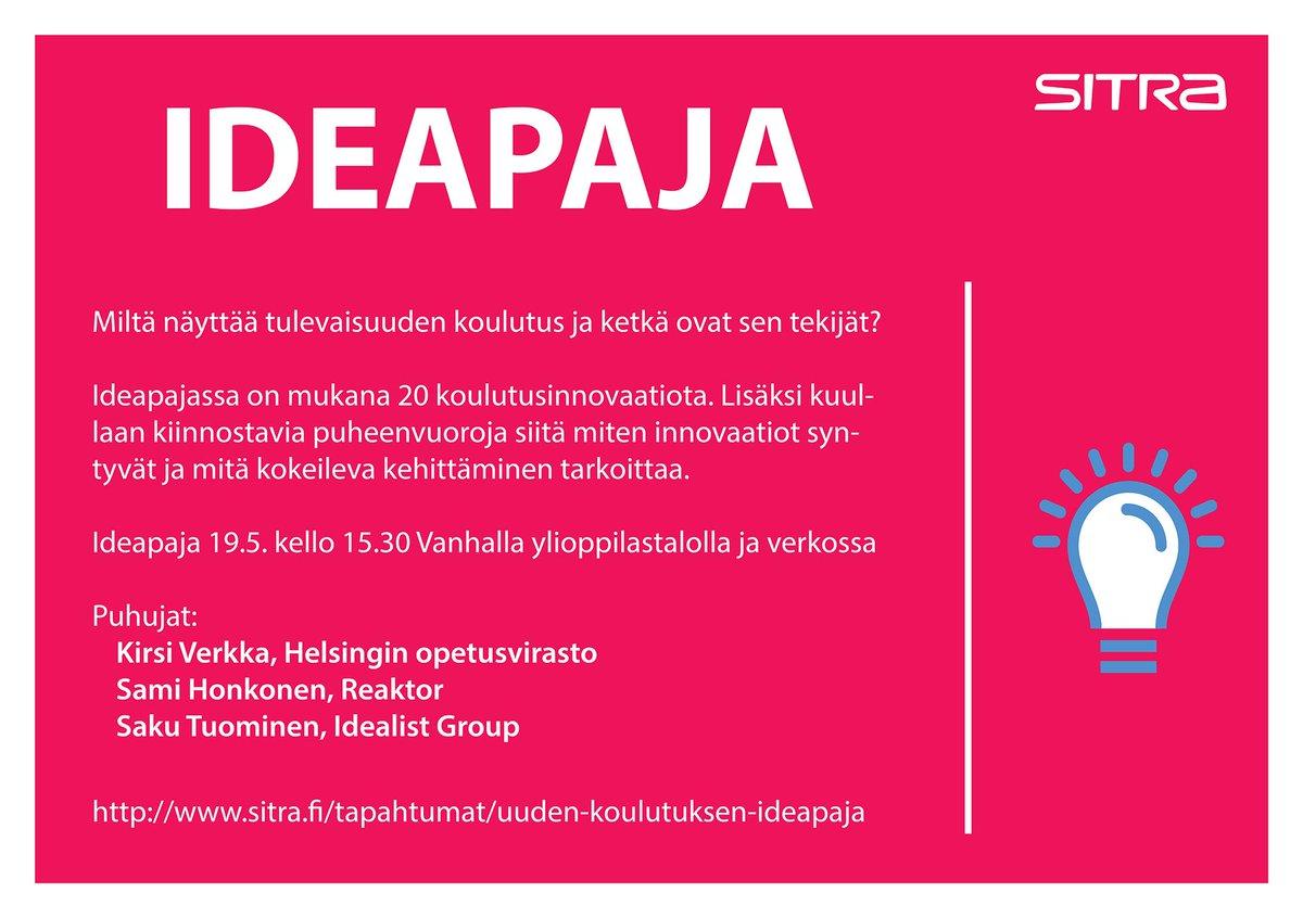 Thumbnail for #uusikoulutus #ideapaja