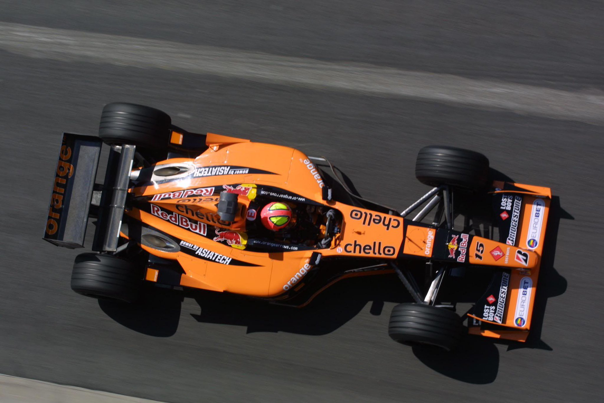 """Caterham F1 on Twitter """" MS ebernoldi in his Arrows"""