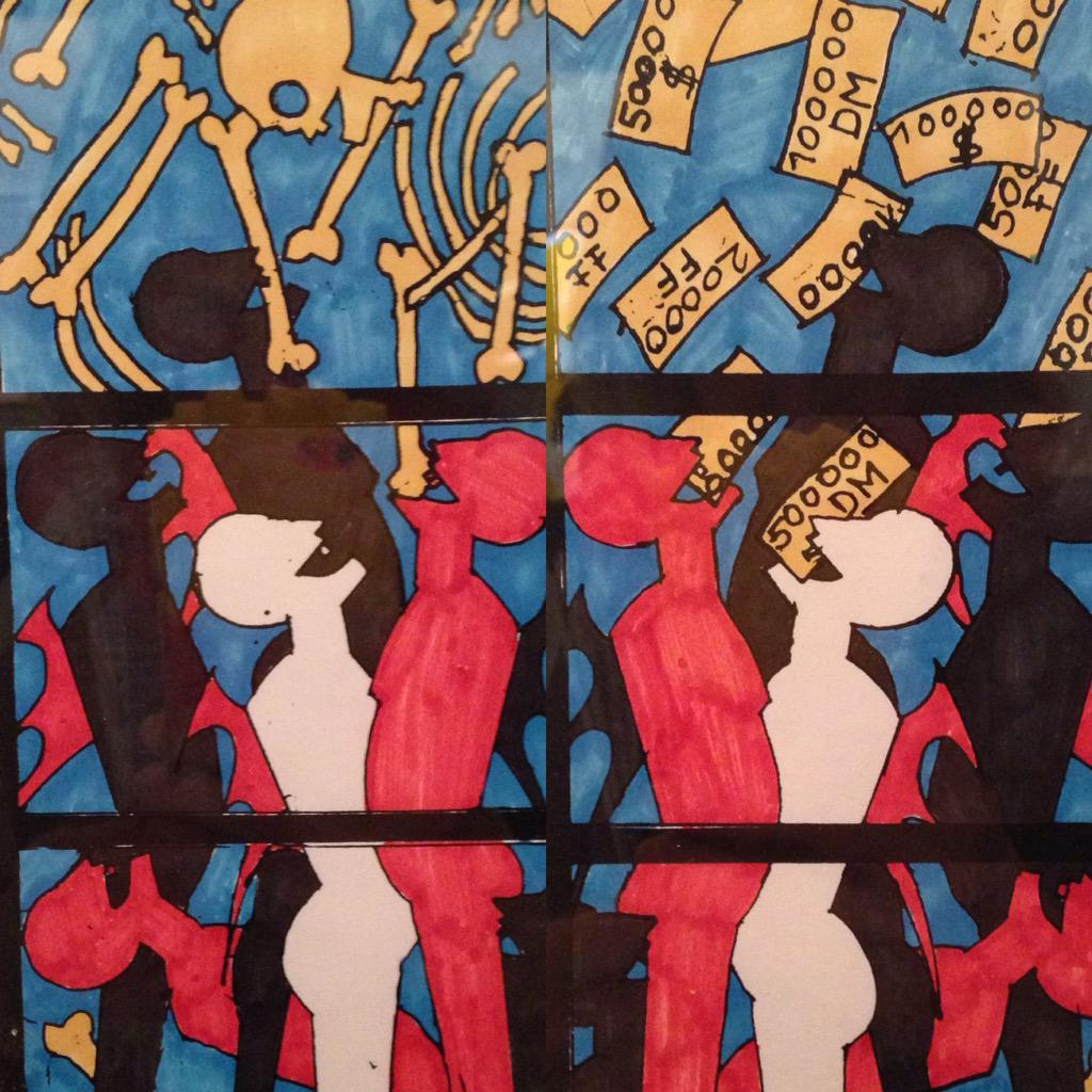 Interprétation contemporaine de l'enfer par l'allemand Georg Ettil en97 Romans sur Isère #ArtduVitrail @Citedelarchi http://t.co/RePXNt7Ak9