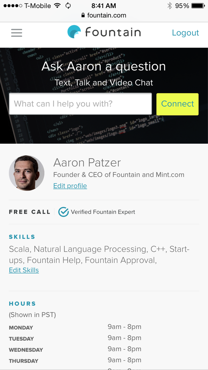 Direct-to-expert video chat  launches today.  Ask me anything on startups for free http://t.co/YQJvbmTHqJ http://t.co/dsIdoilFrO