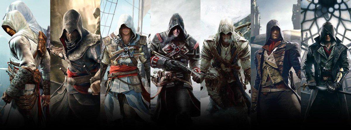 фото всех персонажей из игры ассасин согласно одному