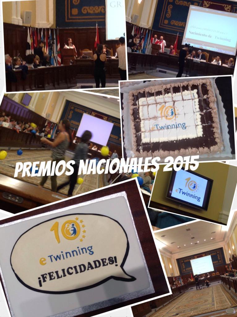 #etjuntos y seguimos en el acto de entrega de los premios nacionales eTwinning 2015 http://t.co/nbX5r5W93U