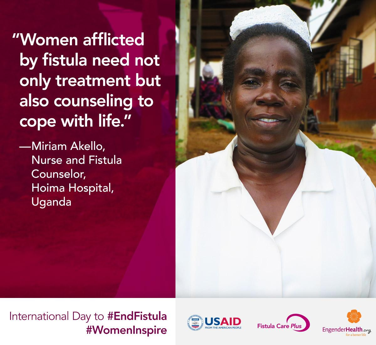 A2: Nurses both provide care & help remove the stigma of obstetric fistula! #WomenInspire #EndFistula #WheresTheFP http://t.co/mjLTlqWNM8