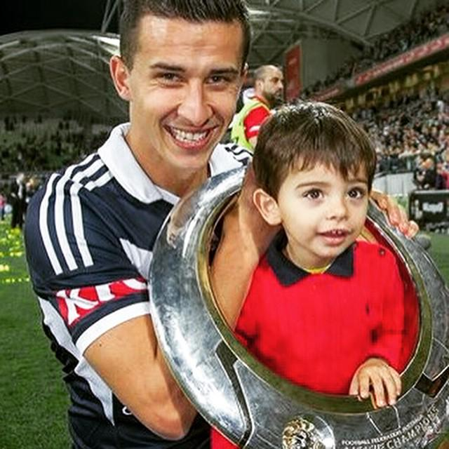 Georgievski brought out his nephew for the trophy celebration