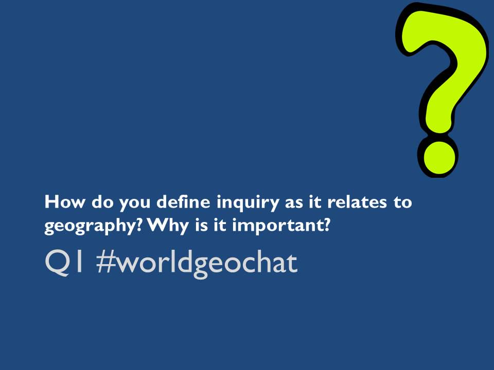 Thumbnail for #worldgeochat - Inquiry