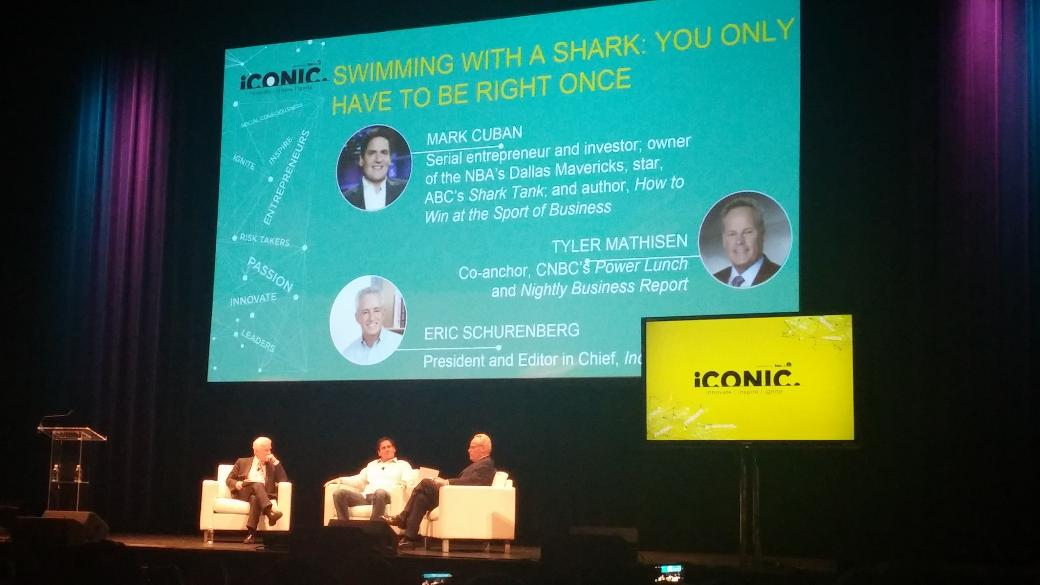 "Mr @ABCSharkTankTV takes the stage at #IconicTour15. ""You re-earn your business everyday"" @mcuban http://t.co/yUAatK7zBc"