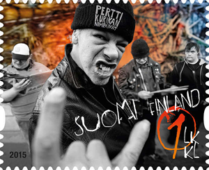 Dunno if it was mentioned on the telly, but those Finnish lads have their own postage stamp. #Eurovision2015 http://t.co/Xfd4OFAVKo