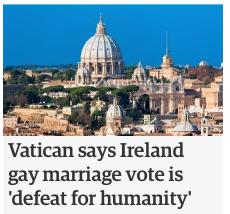 Between the church and gays, I think we all know who's actually been bad for humanity throughout history