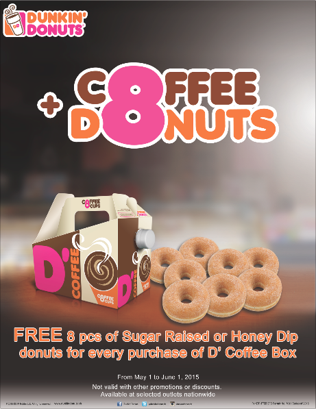 Dunkin Philippines On Twitter Midweek Sugar Cravings Bring With You A Couple Of Infinite Happiness With D S Coffee Box And Free Donuts Http T Co Hikskntzij