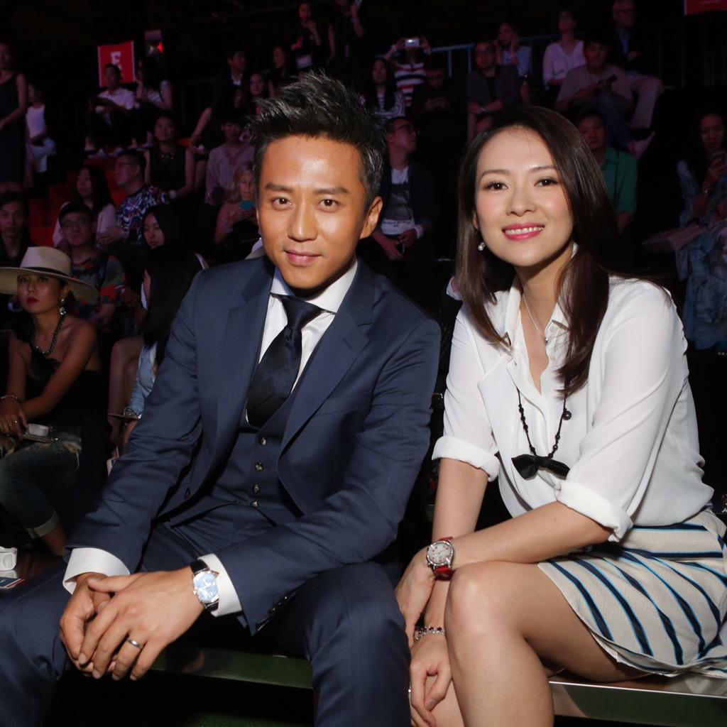 My front row stars! Loved seeing Deng Chao and Zhang Zi Yi at our show. - TH #TommyChina http://t.co/SUUOWD6cxp