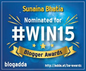 WIN15 Nomination Badge from BlogAdda