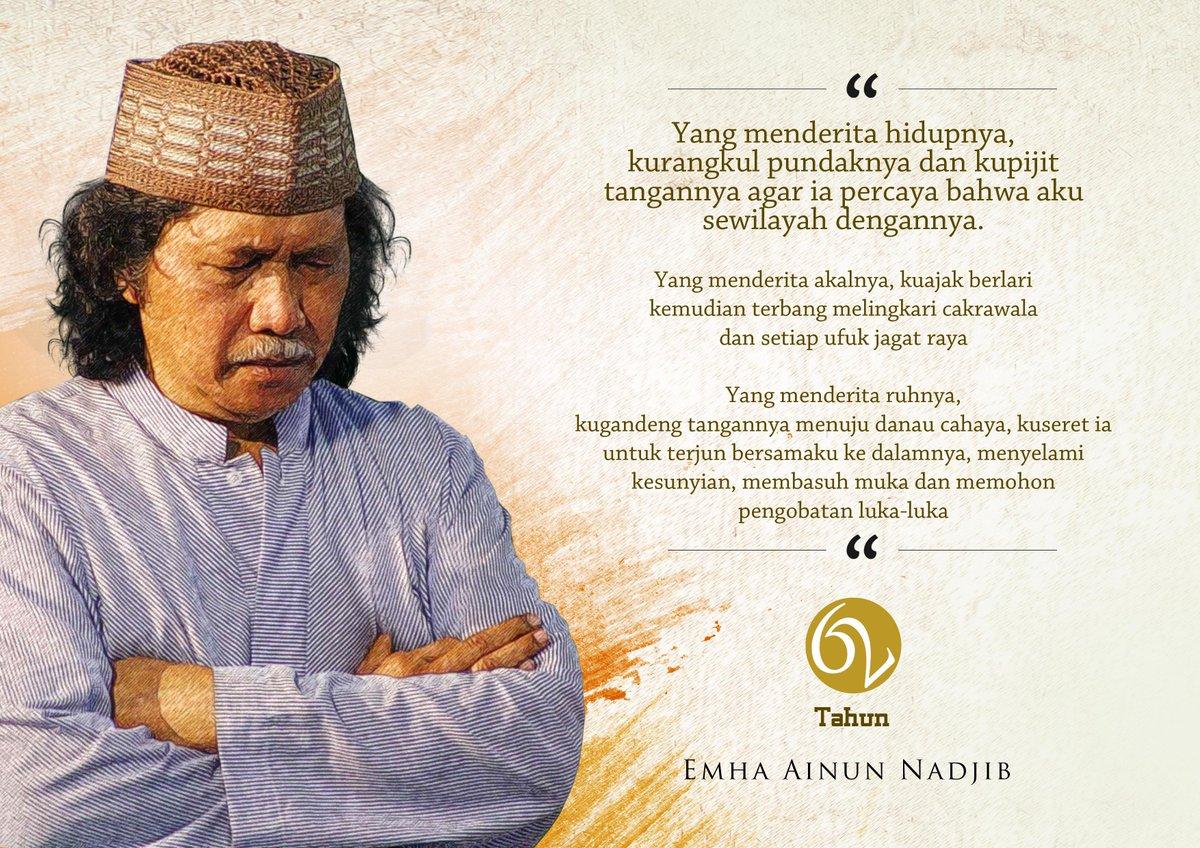 Tadzim kami, untuk guru kami; Muhammad Ainun Nadjib. #62TahunEAN http://t.co/sH5GZUoguP