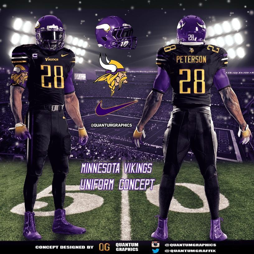 best loved 01918 b8201 chrome helmet & uniform concept (purple boots cleats yikes)