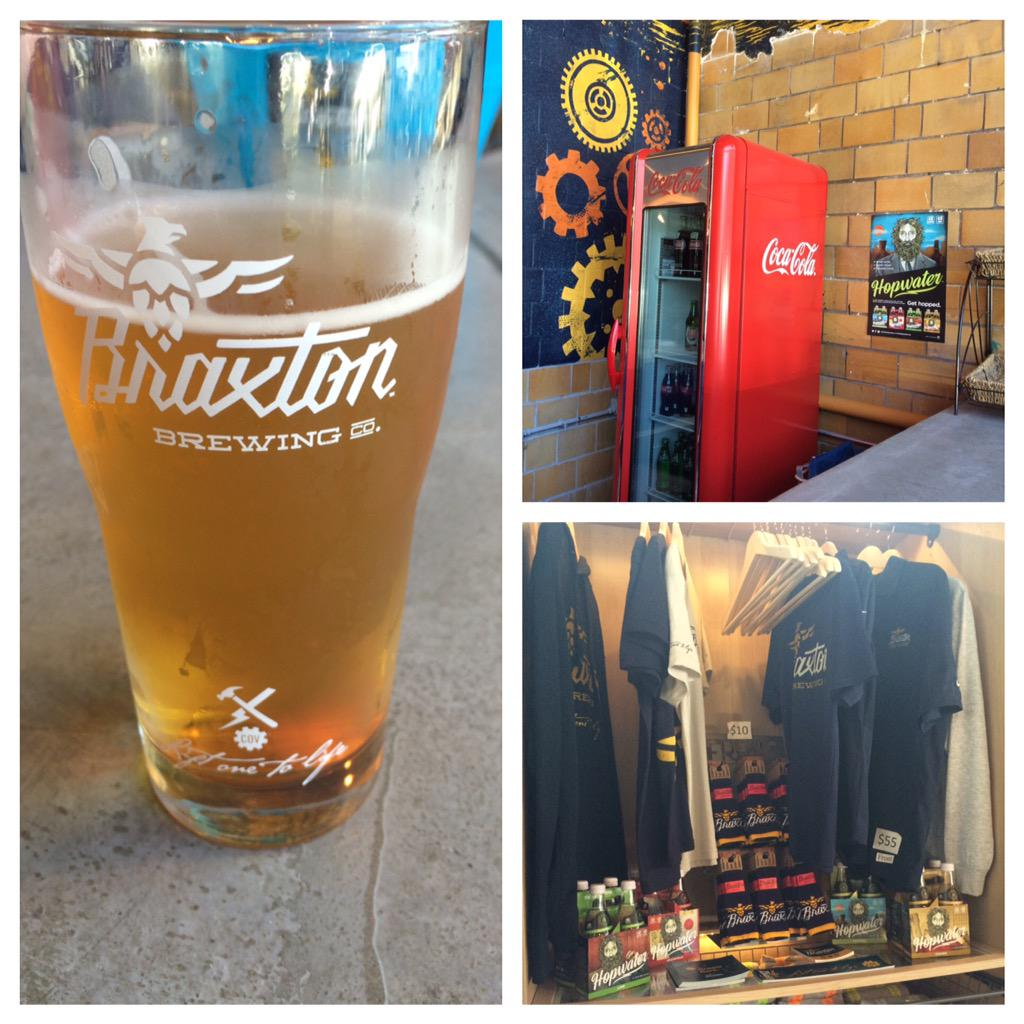 Check it out, @DrinkHopwater at @BraxtonBrewCo #liftonetolife #cl #lovethecov http://t.co/bRPB2UjS4d