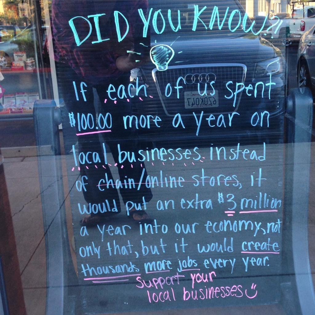 Let's spend $100 a year in a local bookstore. You in? #indies #shoplocal #booksellers http://t.co/ywlY96OAVP