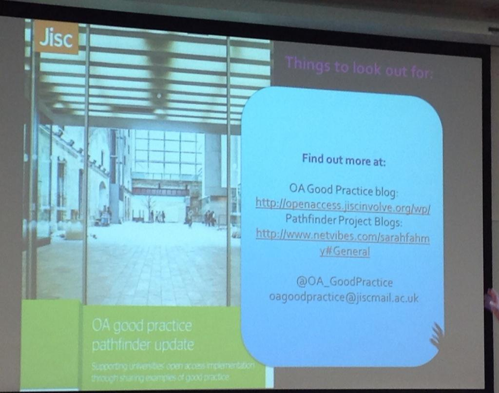 #OAGP Follow-up details for Pathfinder projects and @OA_GoodPractice http://t.co/AzToppfijl