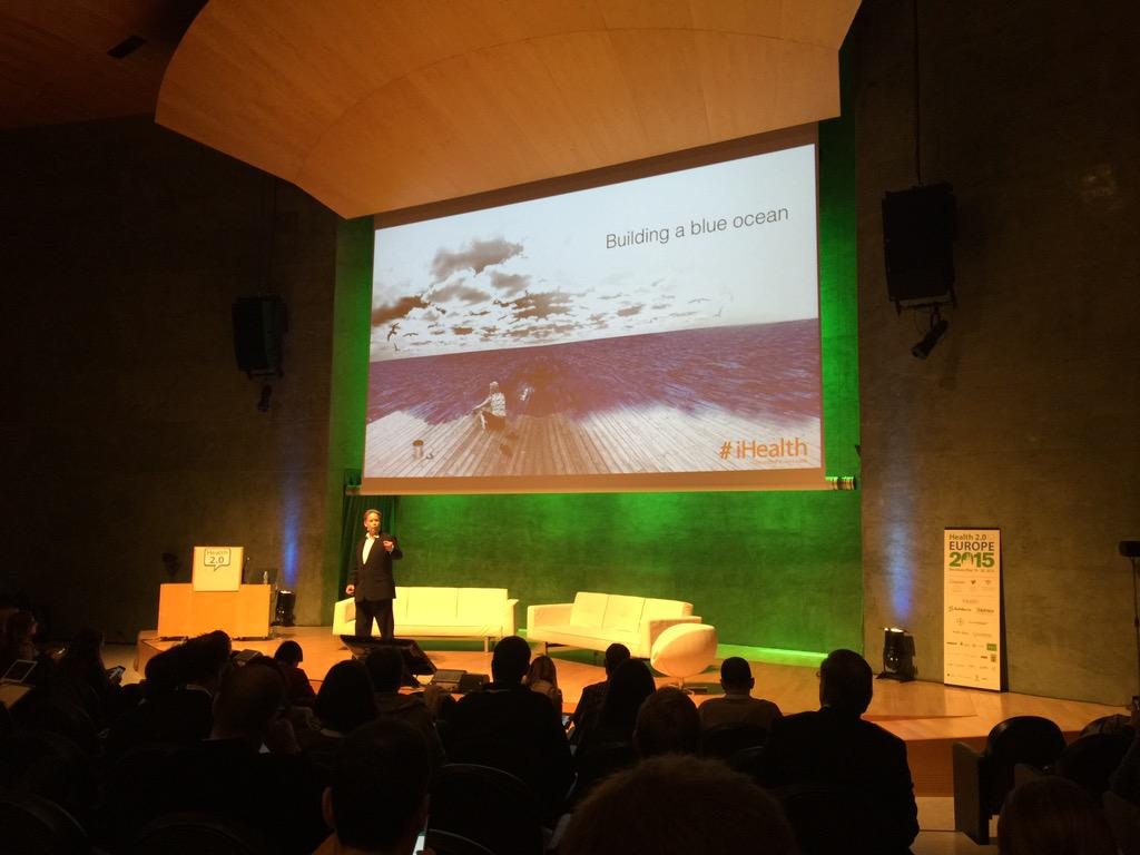Building a blue ocean @uwediegel keynote - as always engaging & eloquent #health2eu http://t.co/0iTn2SkvBb