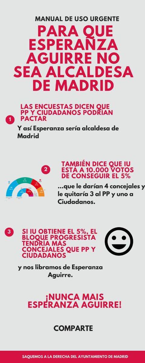 Fórmula para echar a Esperanza Aguirre del ayuntamiento #MasIUMenosPP -> http://t.co/2FC1zHM8v0