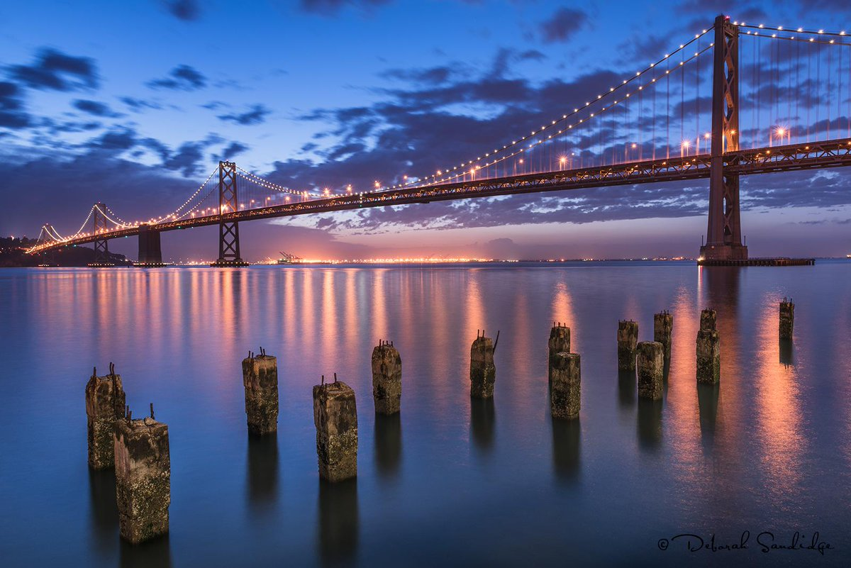 Good morning, rise and shine! I hope everyone has a beautiful day! Photographed at the #BayBridge #SanFrancisco http://t.co/eLGP1OBVqj