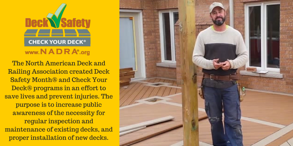 #SafeDeckChat A1: Learn more here: http://t.co/D1sk9axXFs #DeckSafetyMonth #CheckYourDeck http://t.co/6imgrEKo5X