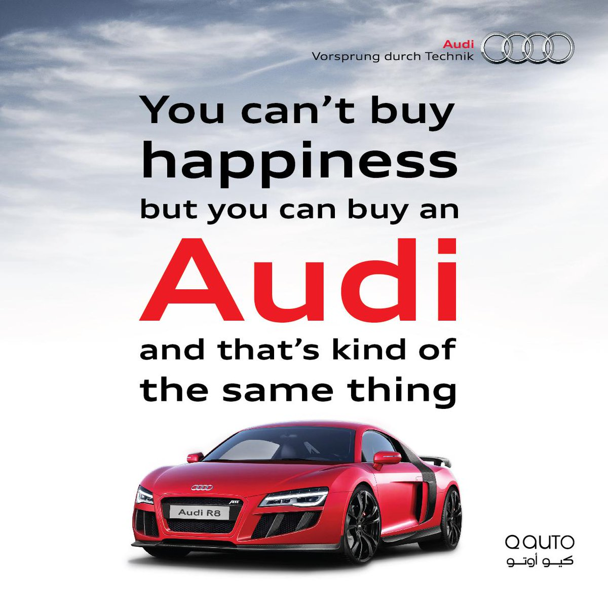 AUDI QATAR On Twitter You Cant Buy Happiness But You Can Buy An - Buy an audi
