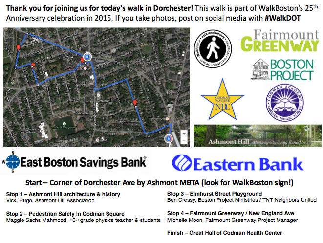See you just after 5pm to #WalkDot - meet by Ashmont #MBTA - look for WalkBoston sign! http://t.co/8N3lgqQ29O http://t.co/4tW9BQJXtM