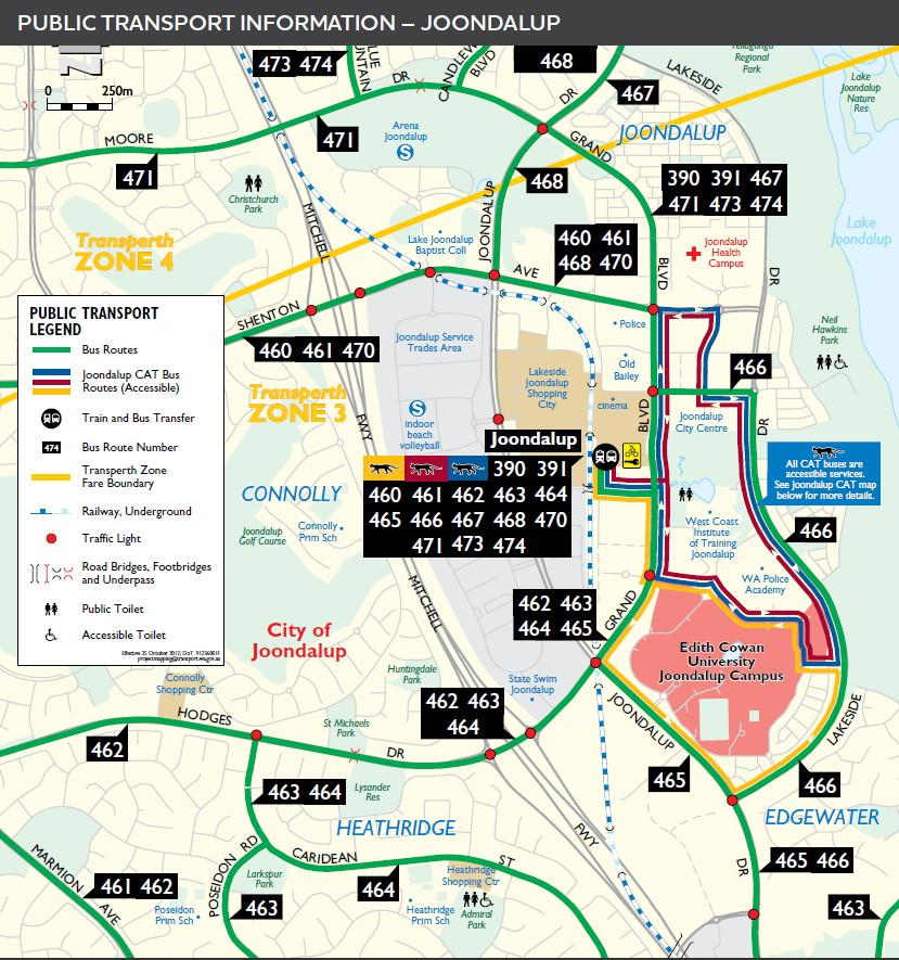 Edith Cowan College On Twitter Here Is The Public Transport Map