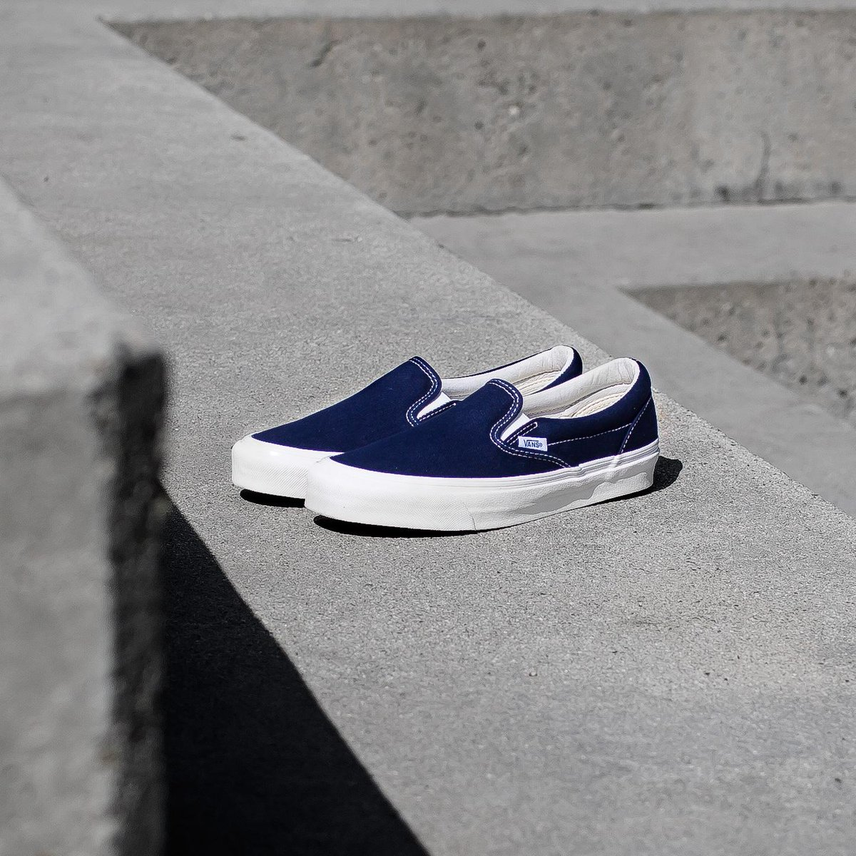 Vans Vault OG Canvas Classic Slip-On in Peacoat available online now. ... 9fede877e