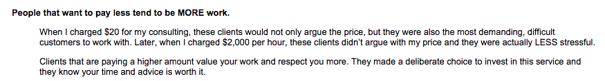 The #1 thing I've learned about consulting through the last 5 years. via @ramit's latest email http://t.co/EbhvzcaZM8