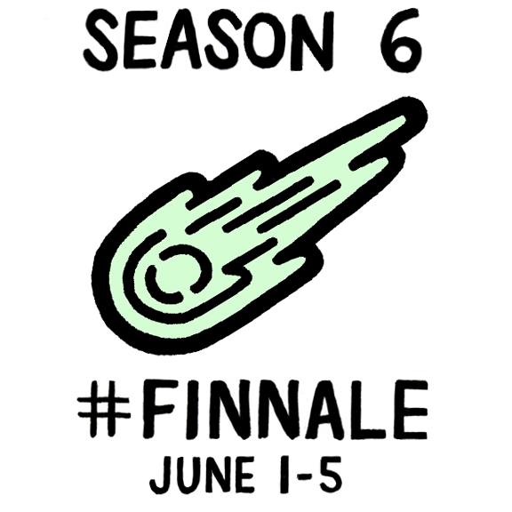 Adventure Time Season 6 ends with 6 new episodes airing in 1 week. At 6p each night... June is the 6th month #Finnale http://t.co/ccPAJNQeGk