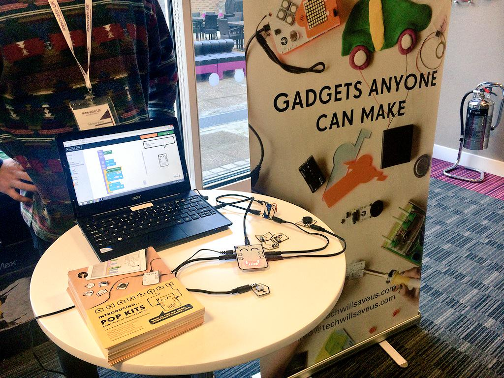 We're at #CN15learningtech sharing our newest kit #popkit to teach programming through #hardware #software & #content http://t.co/Q3cfYzkNzi