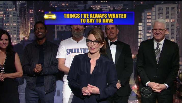 """Thanks for finally proving men can be funny"" -Tina Fey #ThanksDave http://t.co/mJUF0n68DD"