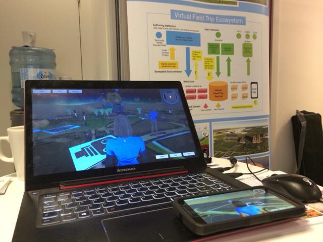Virtual Field Trip as a Service stand set up ready for #CN15learningtech http://t.co/dNN5YhCQ11