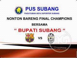 Nobar Barca vs Juve Bareng Bupati di Persikas Subang
