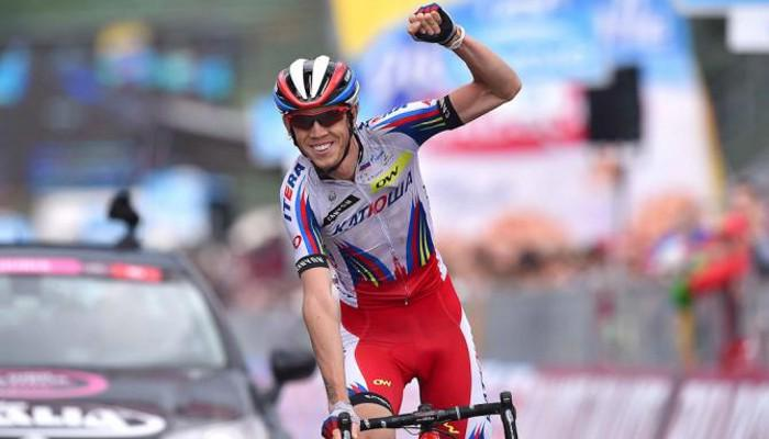 FOTO vincitore della 11a tappa, il russo Ilnur Zakarin (Team Katusha)