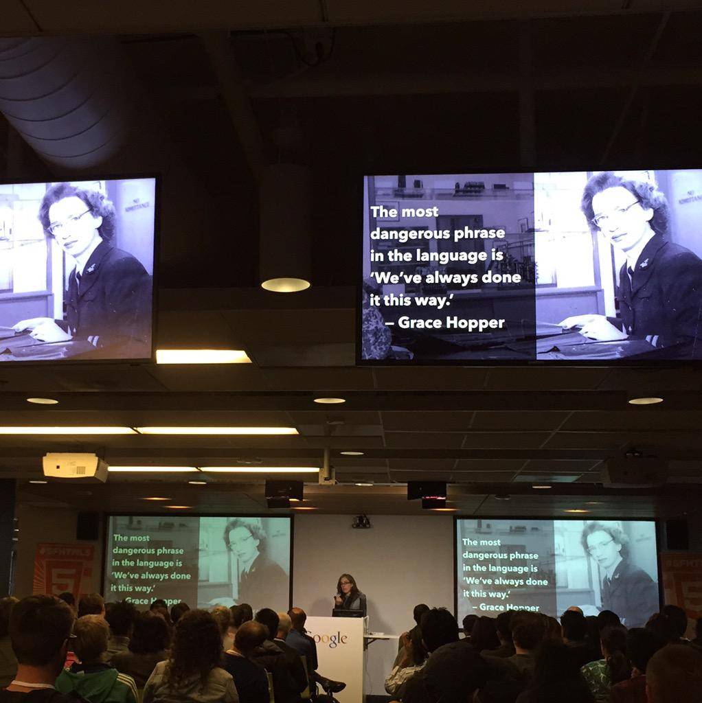 .@jensimmons ending her talk on modern layouts w/ a Grace Hopper quote at #SFHTML5. What Holy Grail layout? http://t.co/0IERuQZV5x