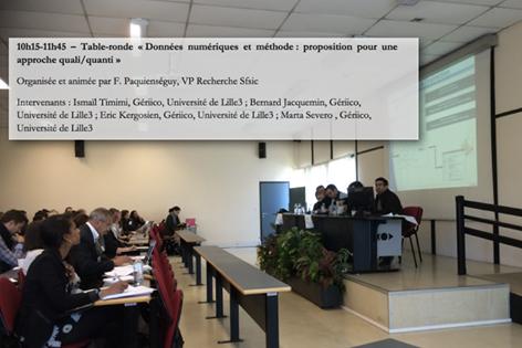 #SFSIC Table ronde « Données numériques et méthode : proposition pour une approche quali/quanti » #doctorales2015 http://t.co/f6Al0gmQkW