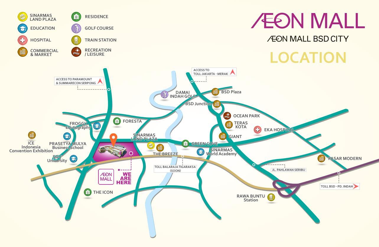 Aeon Mall Bsd City On Twitter Quot Berikut Peta Lokasi Menuju