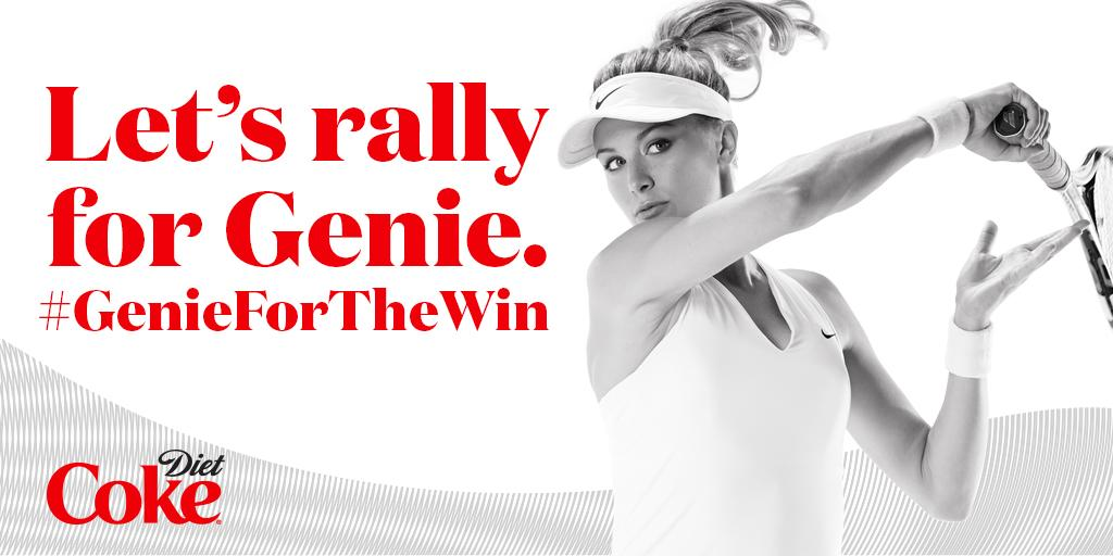 This season, back Genie in a big way by attaching #GenieForTheWin to your messages of support http://t.co/oJycEj1btx http://t.co/MlGkalAImC