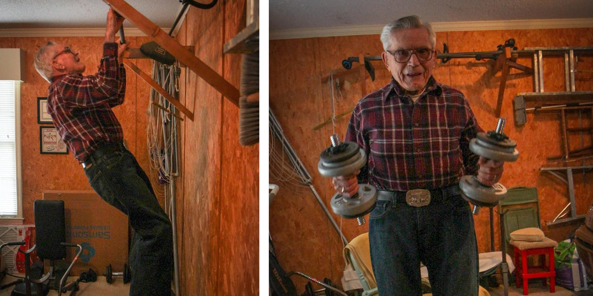 You know he is a #Marine when he is doing pull-ups at 95-years-old.  Read his story: http://t.co/wPAjhG1l1N
