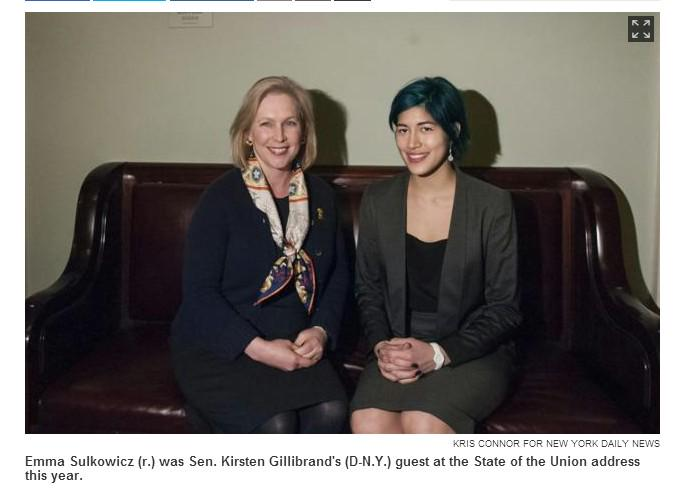 Sen. Kirsten Gillibrand should be under serious consideration for the Congressional Hall of Shame. #MattressGirl http://t.co/6OCPujsPAq